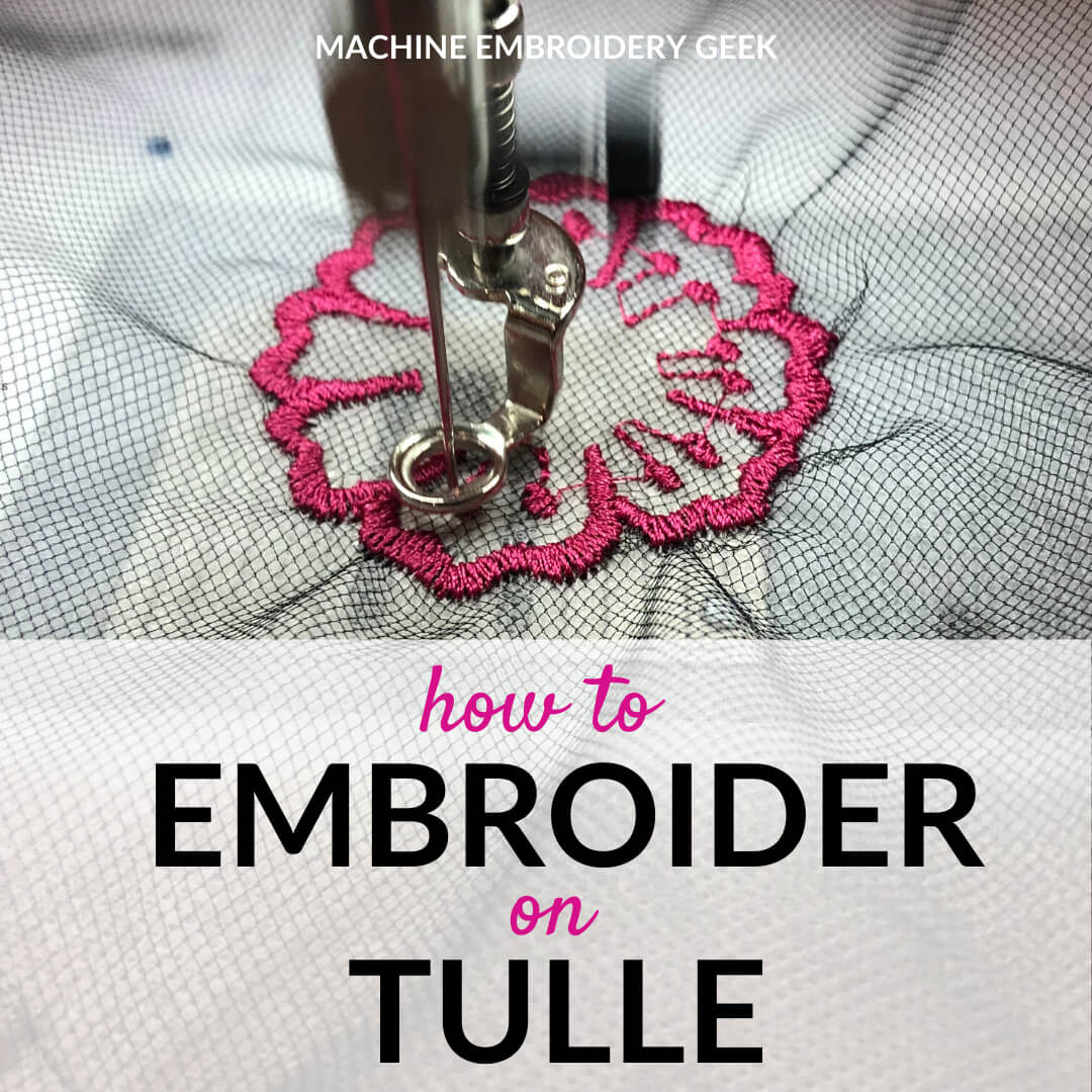 how to embroider on tulle