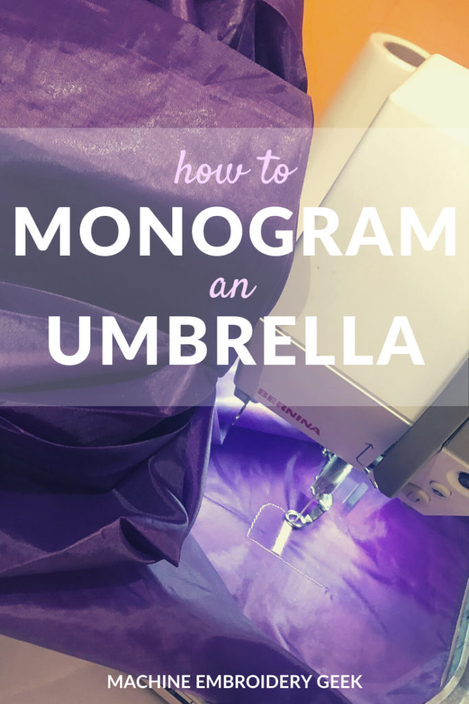 how to monogram an umbrella