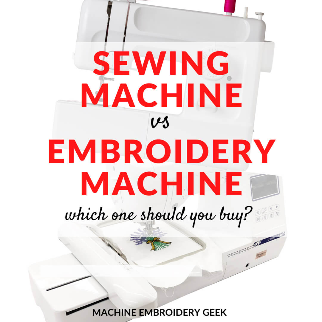 sewing vs embroidery machine