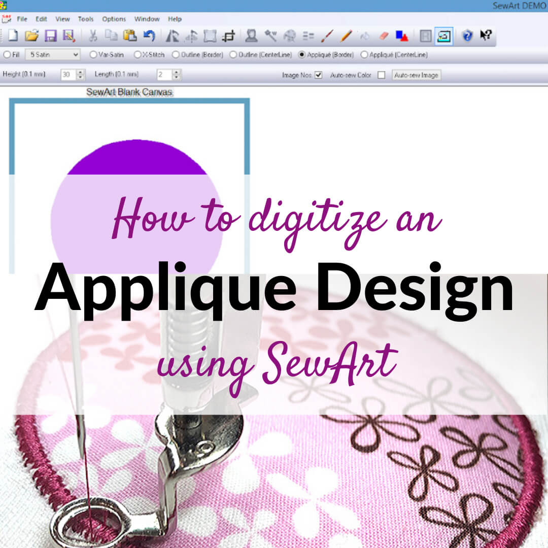 How to digitize an applique design using SewArt