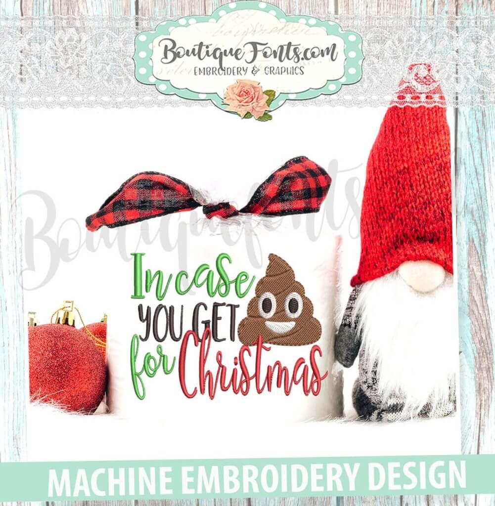 Crap for Christmas machine embroidery design