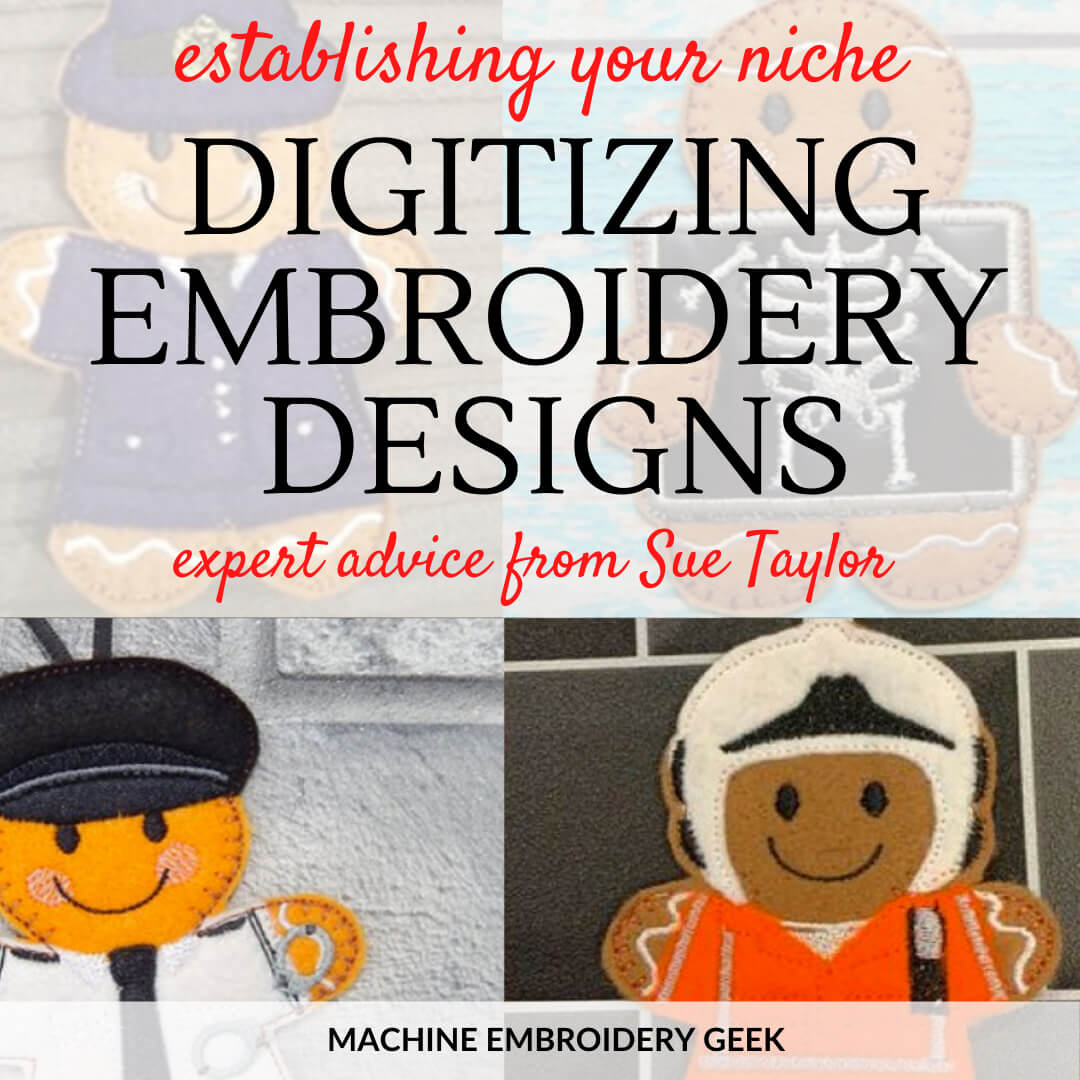 Digitizing embroidery designs with Sue Taylor