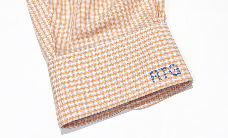 monogrammed cuff on a men's shirt