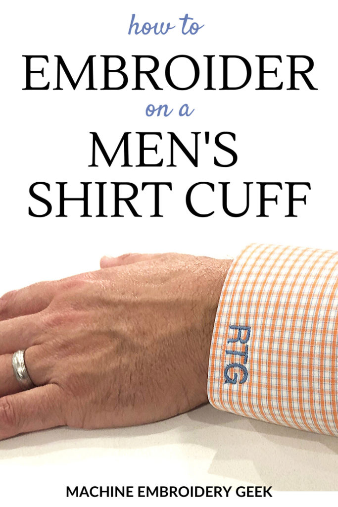 how to embroider on a mens shirt cuf