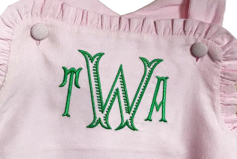 monogrammed corduroy jumper