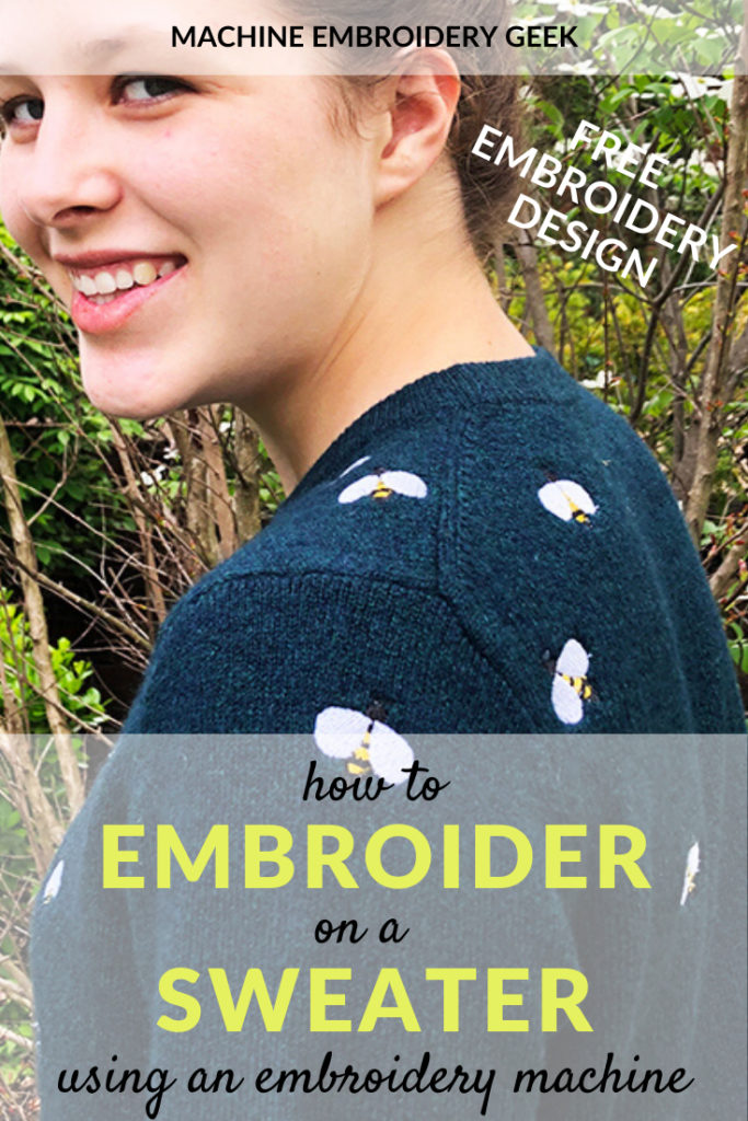 How to embroider on a sweater