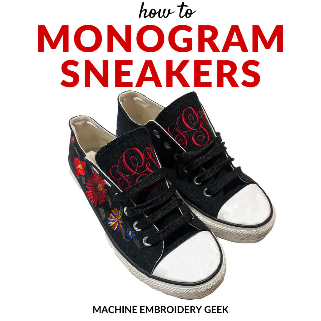 how to monogram sneakers