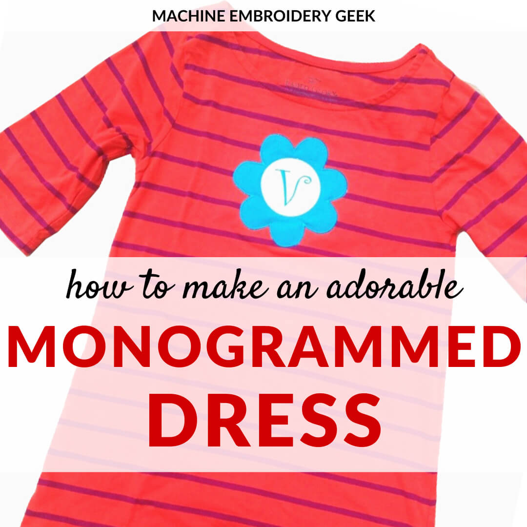 how to make a monogrammed dress