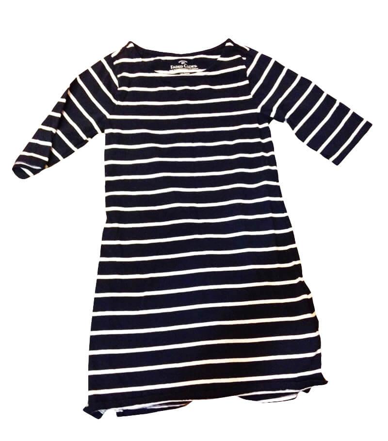 Walmart nautical dress - perfect for adding a monogram.