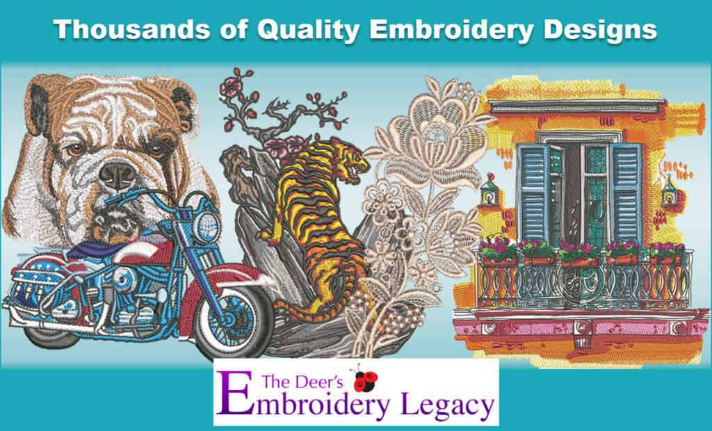 Embroidery legacy design collection