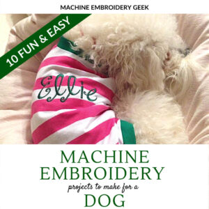 machine embroidery projects for a dog