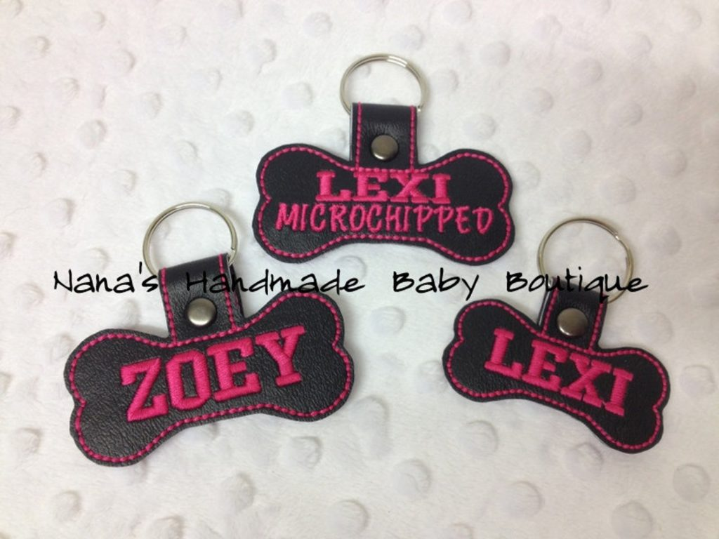 in-the-hoop dog name tag