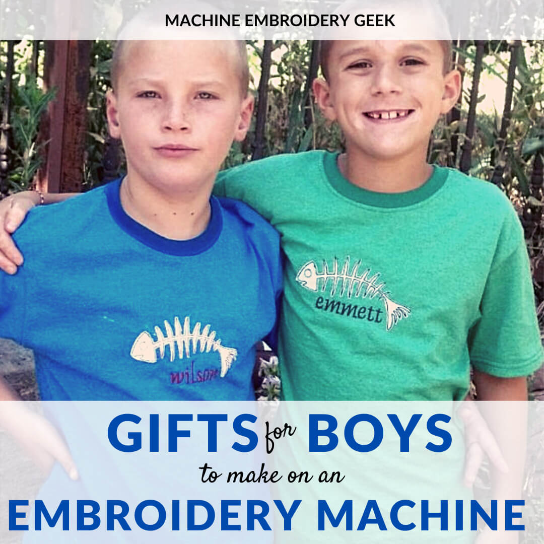 gifts to make for boys on your embroidery machine