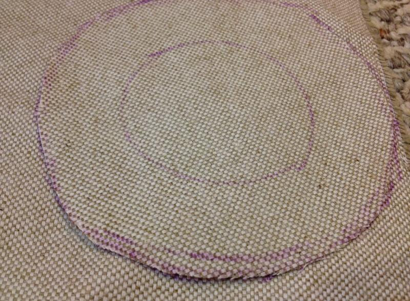 How to make a wine bag: adding seam allowences
