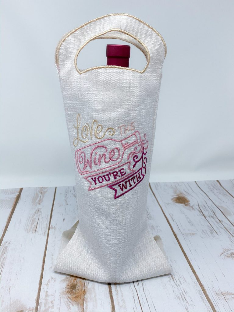 love the wine you're with in the hoop wine bag
