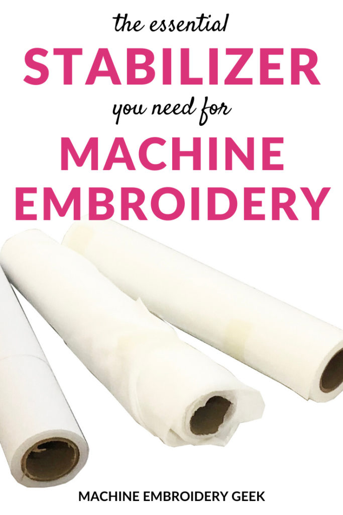 Machine embroidery stabilizer you need for machine embroidery