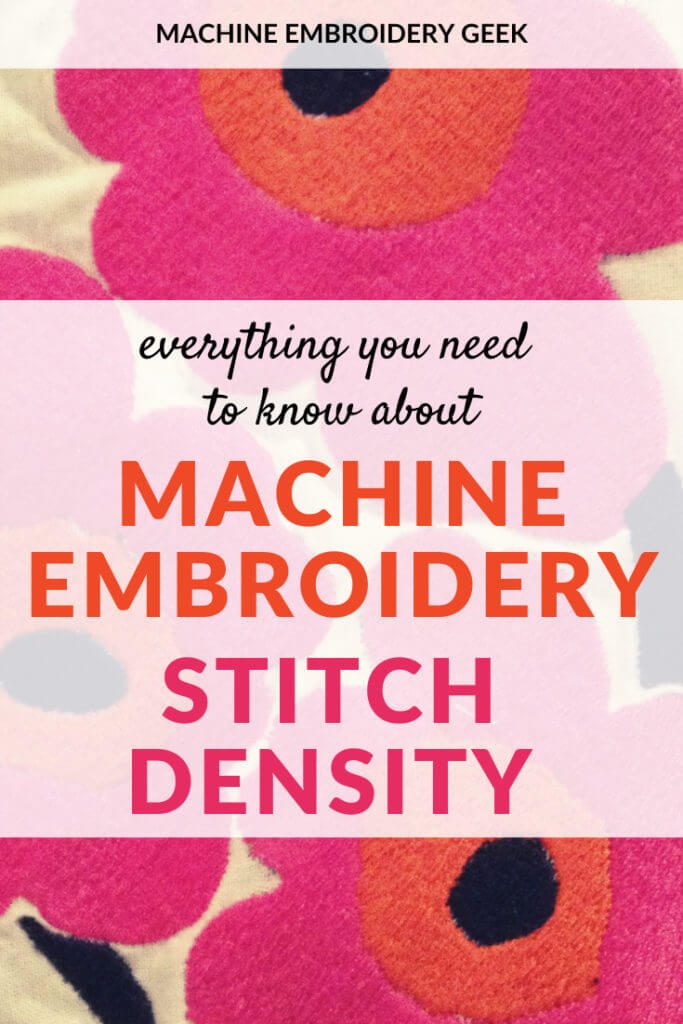 stitch density in machine embroidery