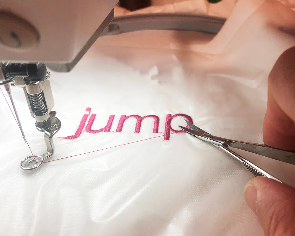 how to remove jump stitches