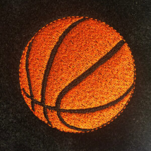 basketball machine embroidery design
