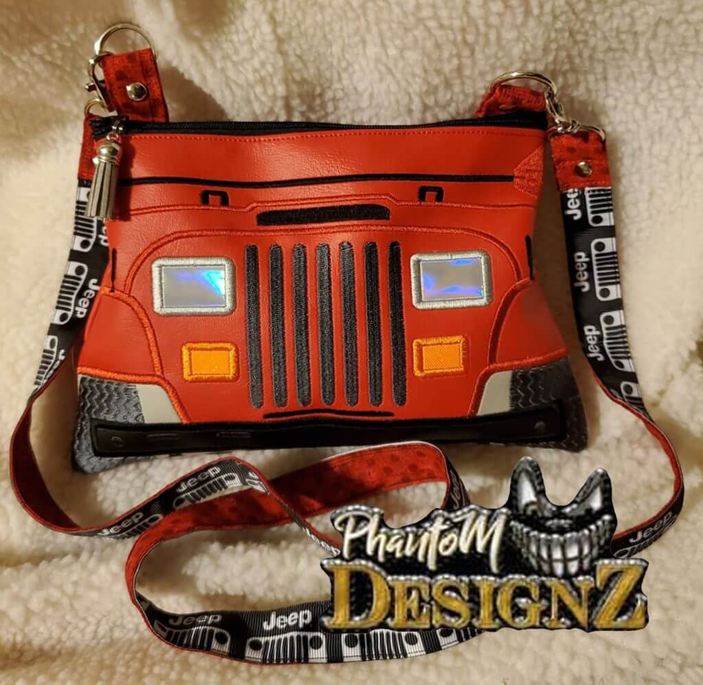 Jeep in-the-hoop pouch