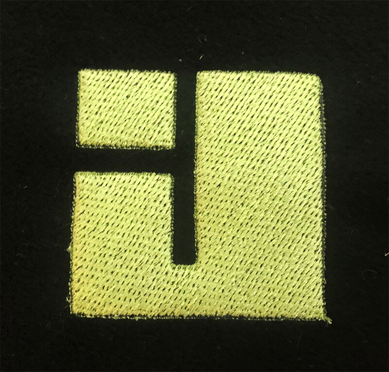 digitized logo created in SewArt embroidery software