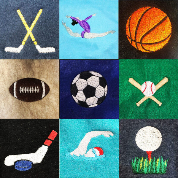 sports machine embroidery designs