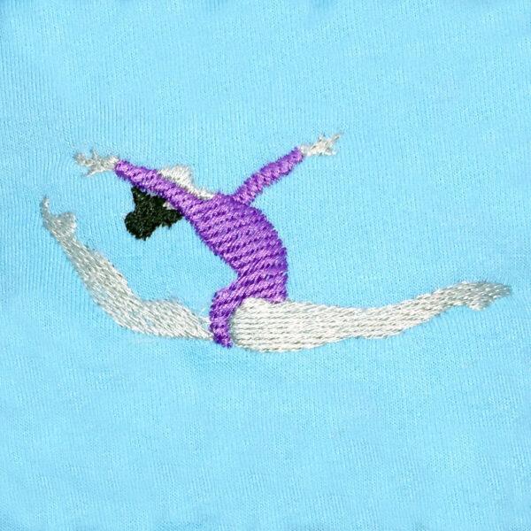 gymnast machine embroidery design