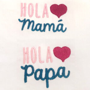 hola mama and papa machine embroidery designs