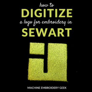 how to digitize a logo for machine embroidery using sewart