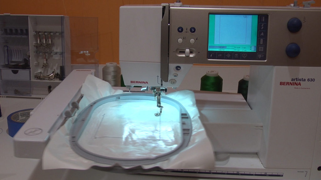 hooped adhesive-backed stabilizer with sticky surface exposed
