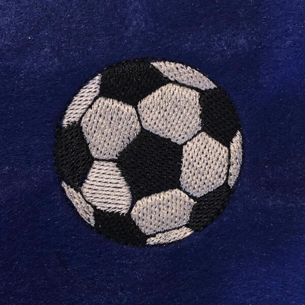soccer ball machine embroidery design.