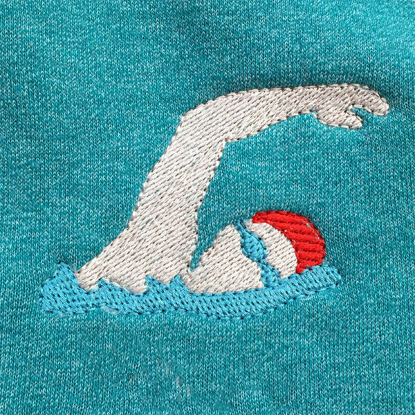 swimmer machine embroidery design