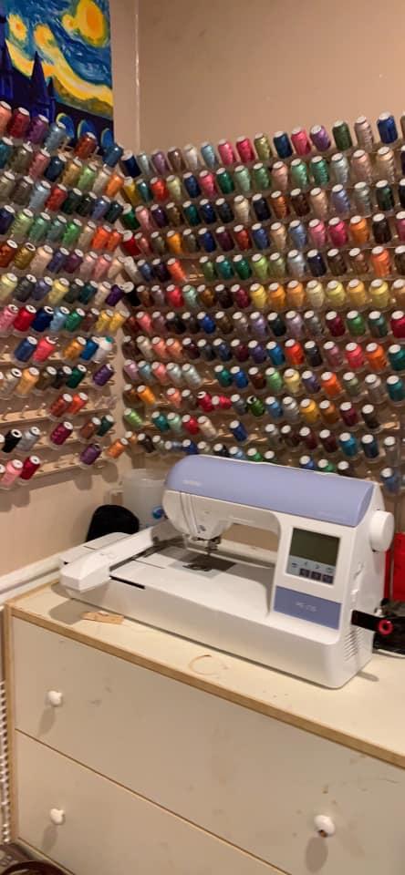 thread storage on wall