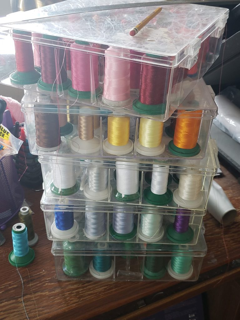 thread storage bins
