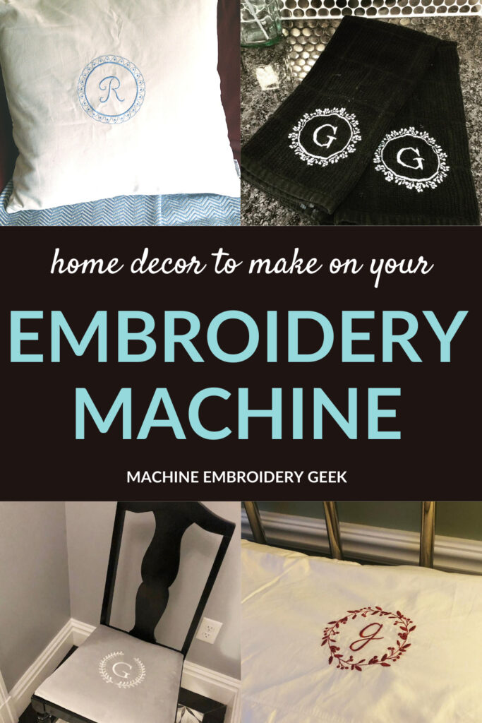 diy embroidery home decor
