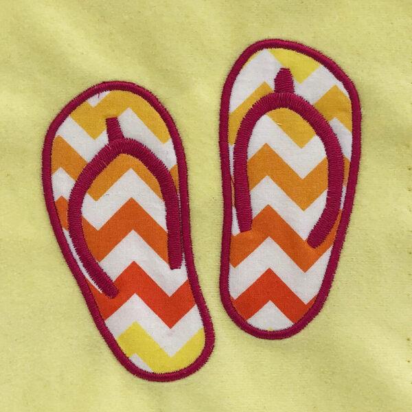 flip flop applique design