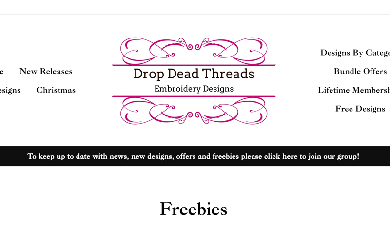 free machine embroidery designs at Drop Dead Threads