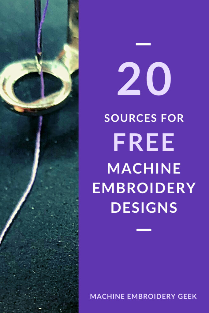 free machine embroidery designs: 20 sources