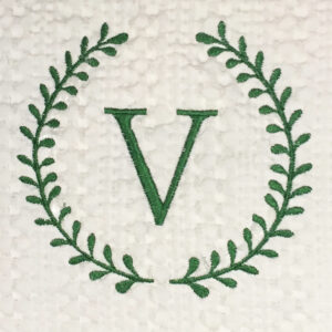roman wreath single initial monogram