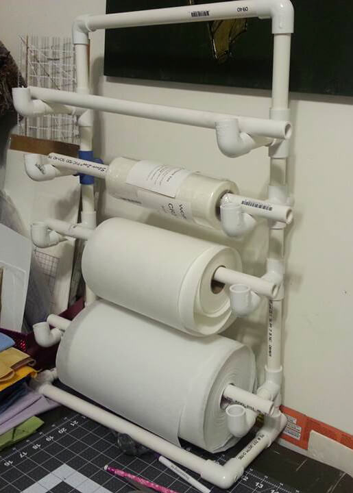 embroidery stabilizer rack made from PVC