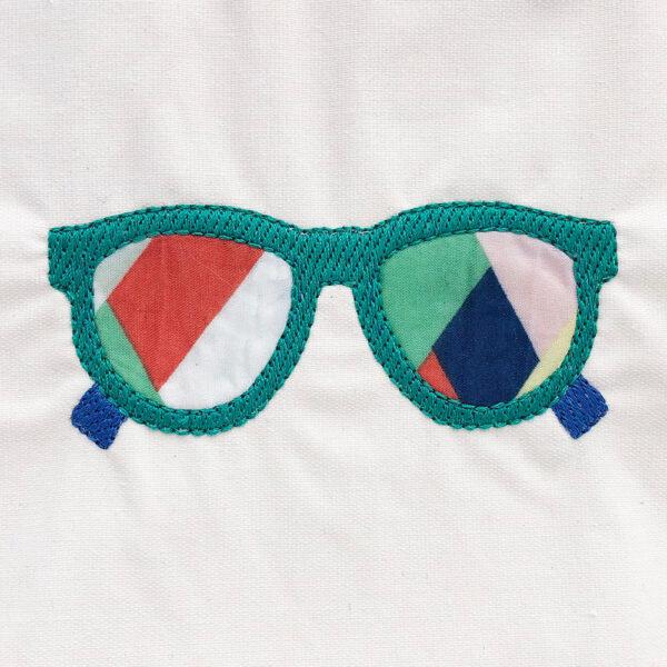 sunglasses machine applique design