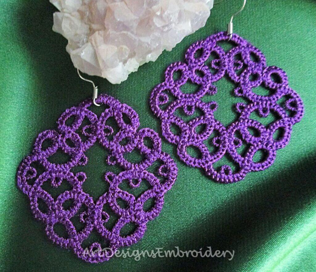 free standing lace earrings modern