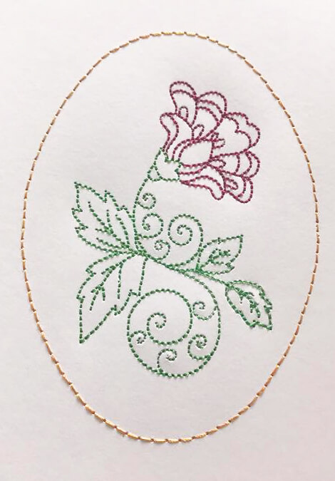 how to embroider on cards