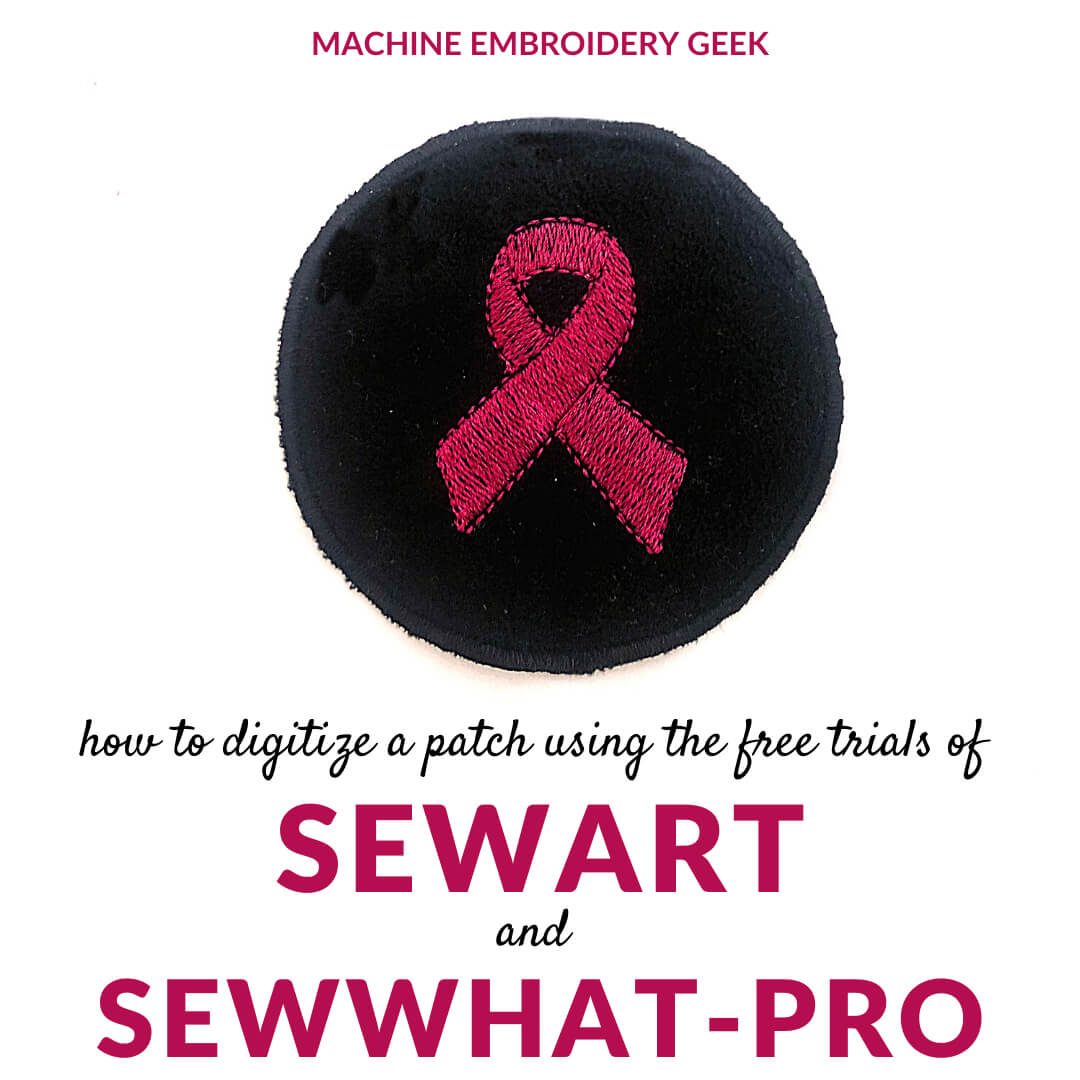 how to digitize a patch using sewart and sewwhat pro