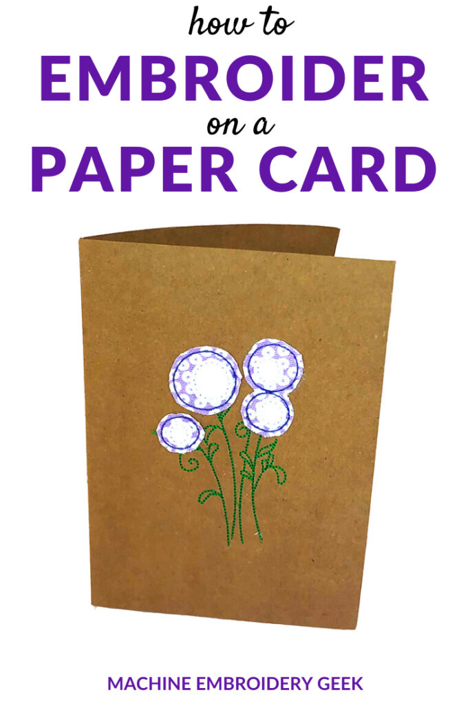 how to embroider on a paper card