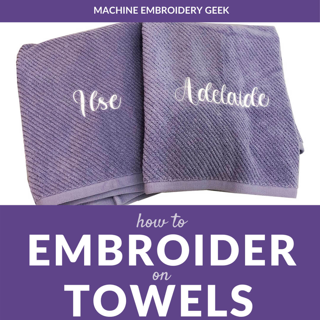 how to embroider on towels