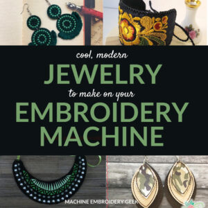 jewelry to make on an embroidery machine