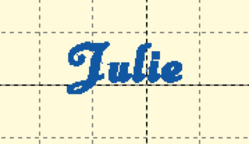 my name in Anna typeface