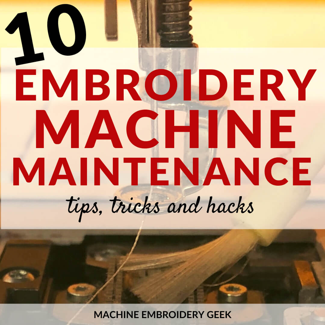 embroidery machine maintenance