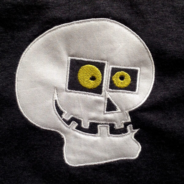 skull machine applique design
